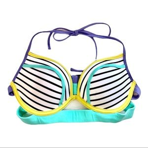 Victoria's Secret Color Block  32 C Bikini Top